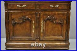 Drexel Heritage Old Continent French Style Rolling Server Bar Cart Cabinet