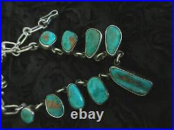 Federico Jimenez Timeless Old Style Vintage Mined Gem Quality Turquoise Necklace