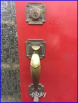 Front Door Old Antique Vintage Spanish Craftsman Style