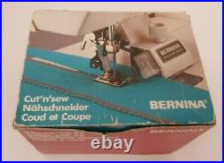 Genuine Vintage Bernina Cut'n'Sew Attachment Sewing Machine Rare'old style