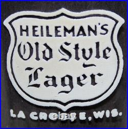 HEILEMAN'S OLD STYLE LAGER VINTAGE 1930's A. C. L. PILSNER STYLE BEER GLASS