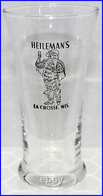 HEILEMAN'S OLD STYLE LAGER VINTAGE 1930's A. C. L. TAPPER STYLE BEER GLASS