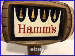 Hamms Beer Tap Handle Wood Barrel Vintage Old World Style