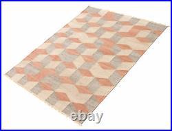 Hand woven Turkish Kilim 5'1 x 7'11 Old Style Flat Weave Rug