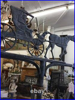 Horse And Carriage Weathervane Old English Tudor Style Antique Iron Weathervane