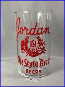 JORDAN Minnesota OLD STYLE BREW BEERS Horseshoe GLASS Original VINTAGE