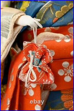 Japanese Old Vintage Beautiful Geisha Doll -Classic Style-