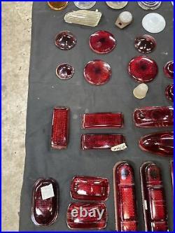 Lot 1920s 1930s 1940s Glass Light Lenses Plymouth Dodge Ford Pontiac Olds OG