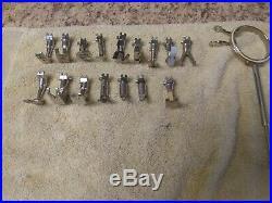 Lot Of 17 Assorted Bernina Old Style Pressor Feet, Monogram Hoop, and Case VTG
