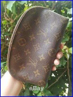 Louis Vuitton Old Style Makeup Bag Monogram Used Vintage Cute US Seller