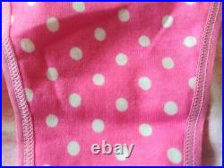 NWT Victoria's Secret Pink string bikini panties hot pink dotted band old style