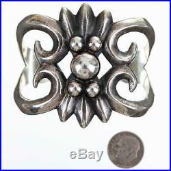 Navajo Sandcast Bracelet Sterling Silver WILSON BEGAY Old Vintage Pawn Style