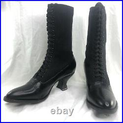 New Oak Tree Farms Black Catherine Old West Granny Vintage Style Leather 6M