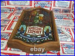 New Vtg 1979 Old Style Special Export Beer Led Bar Light Pub Sign Nautical Globe