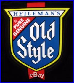 New Vtg 1984 Old Style Beer Barrel Hanging Poker Pool Table Light Bar Sign Sweet
