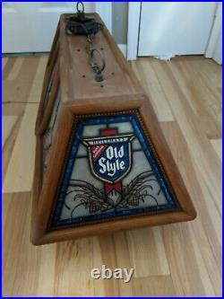 Nice Vintage Heielemans Old Style Beer Pool Table Light Bar Sign