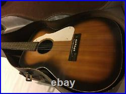 OLD STYLE SILVERTONE VINTAGE ACOUSTIC GUITAR With OLD CASE- 1950's