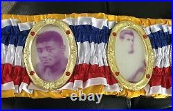 OLD STYLE VINTAGE RING MAGAZINE Championship Boxing Belt. WBC IBF WBO IBO