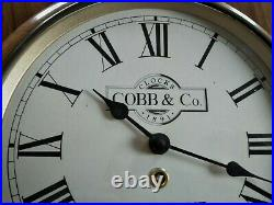 OLD WALL CLOCK COBB & Co 1891 MELBOURNE VICTORIA AUSTRALIA antique style