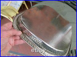 Old Antique Victorian Sheffield Style Large Silver Plate Butlers Size Tray