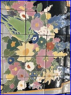 Old Antique Vintage Claycraft Tile Mural Catalina Batchelder Malibu style
