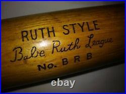 Old BABE RUTH HANNA Bat RARITY League Style Vintage 1940s 50s BRB Ny Yankees 34