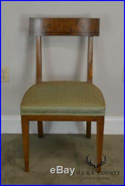 Old Colony Regency Style Vintage Set 6 Burl Wood Dining Chairs