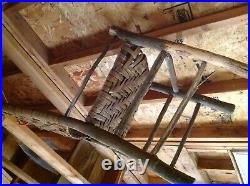 Old Hickory style large lot of antique chairs