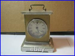 Old Musical Carriage Style Key Wind Working! Clock Antique T