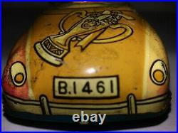 Old Rare BABE RUTH Baseball Style TIN LITHO CAR Vintage Japan YANKEES 1940 1950s