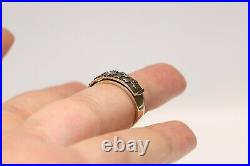 Old Style 14k Gold Natural Diamond Decorated Darling Written Ring