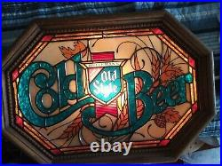 Old Style COLD BEER Light Up Beer Sign VTG Tavern Bar Man Cave Rec Room Pub C@@L