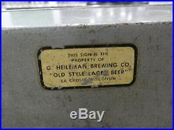 Old Style Lager Motion Beer Light Rotating Bar Pub Sign 1950's Vtg Antique RARE