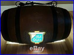 Old Style Pool Table Hanging Barrel Light Vtg