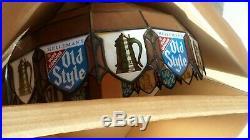 Old Style beer sign vintage hanging large pool table lighted bar light MB4 NIB