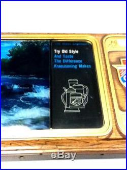 Old Style beer sign vintage motion water scrolls lighted TV simulator light MJ3