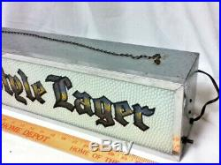 Old Style lager beer sign motion reverse painted glass vintage ROG light lighted