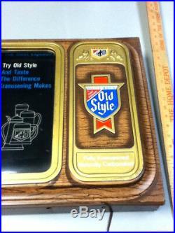 Old Style lager beer sign vintage motion water scrolling lighted back bar light