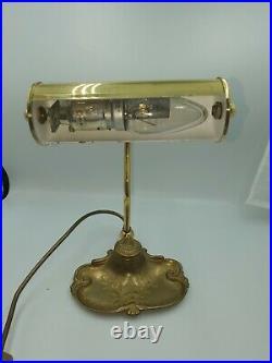 Old Vintage Art Nouveau Style OMI Table Lamp