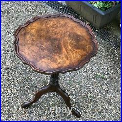 Old Vintage Mahogany and Walnut Regency Georgian Style Wine Side Table Wooden