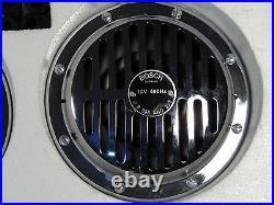 Old style Bosch Vintage Chrome Horn set Classic MERCEDES Benz Free P&P