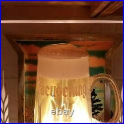 Old vintage old style beer bubbler bubbling mug beer lighted sign