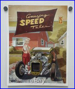 Oop Keith Weesner Poster Model A Ford Hot Rod Pinup Print Vtg Style Rat Hemi Old