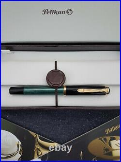 PELIKAN R400 Souverän Tintenroller Old Style grün-schwarz in Geschenkbox Vintage