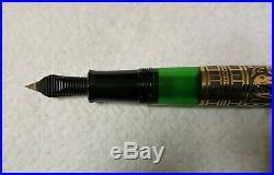 Pelikan M700 Toledo (Old Style) Vintage Fountain Pen Black & Vermeil F 18K Nib