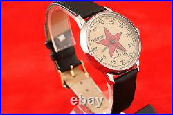 RED STAR RED ARMY Vintage Russian USSR military style OLD stock wrist watch