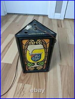 Rare Heilemans Old Style Special Export 3 Sided Beer Light Sign Vintage