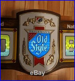 Rare Old Style Cold Beer Bubbler Motion Lighted Bar Sign Vintage