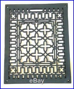 Rectangular Floor Grate Medium Register Solid Cast Iron Vintage Old Style