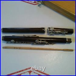 Restored Vintage 1920s Wooden Flute, Carte'Old Style' system for Irish music